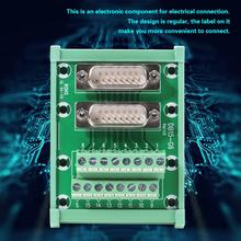 цена на DB15-G6 Double Male Head DIN Rail Mount Interface Module Terminal Block Board Solderless Wire Terminal