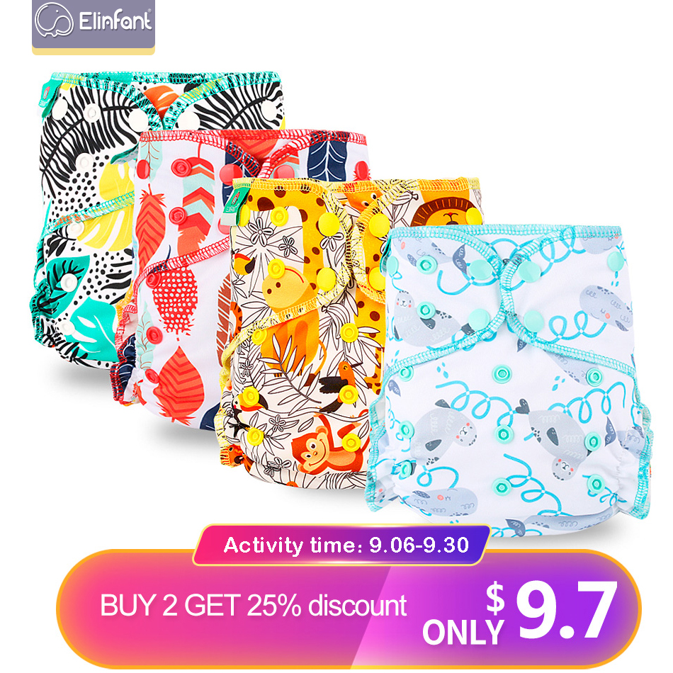 Elinfant OS Velour Night AIO Baby Diaper Reusable Heavy Wetter Hybrid  AI2 Waterproof  Bamboo Washable Baby Aio Cloth Diaper