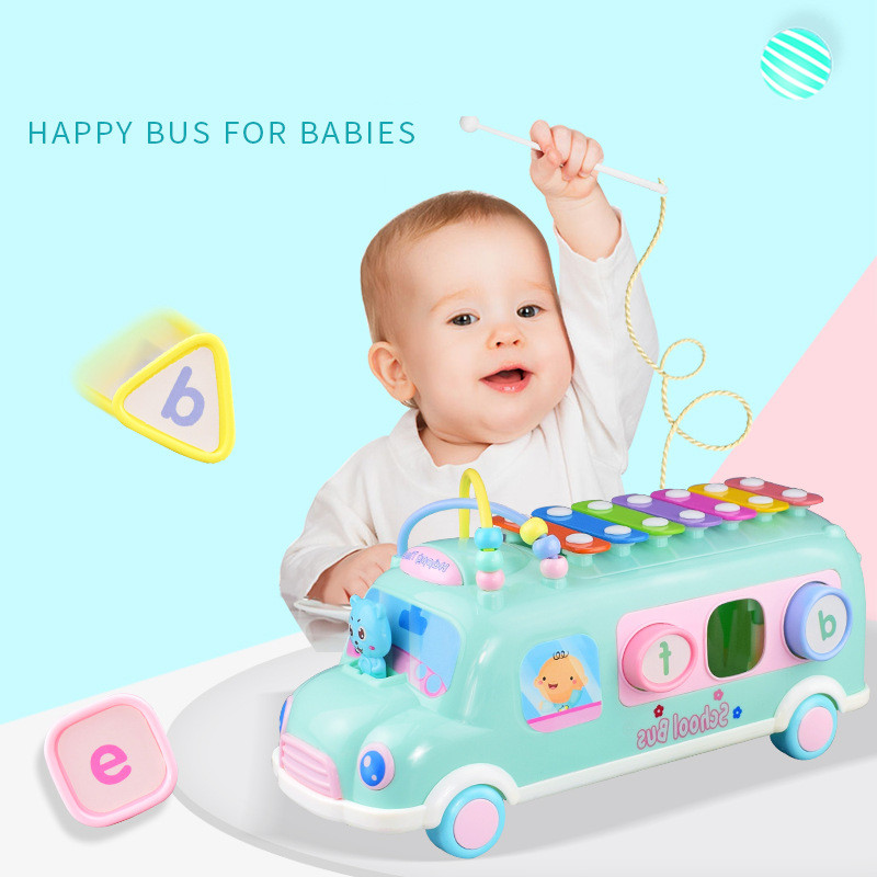 Educational Musical Toys For 0 12 13 24 Months Baby Toddlers School Bus Car Girl Boy Toys Rinquedos Para Bebe Oyuncak