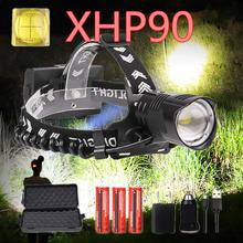 Real xhp90 led headlight Powerful 9000LM xhp90 high power head lamp torch usb 18650 rechargeable xhp70 head light zoom headlamp