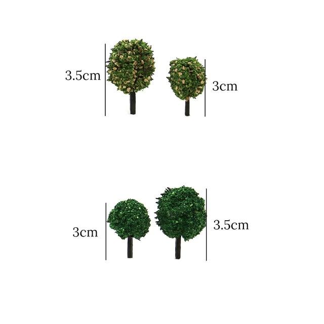 Model Tree Miniature Green Trees Railway Road Landscape Park House Layout Simulation Bush Tree Scene Sand Table Building Kits 2