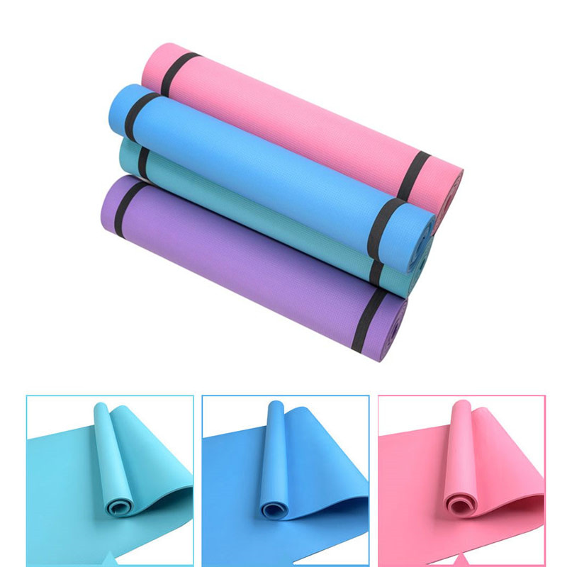 4MM PVC Yoga Mats Anti-slip Blanket PVC Gymnastic Sport Health Lose Weight Fitness Exercise Pad Women Sport Yoga Mat eye shadow