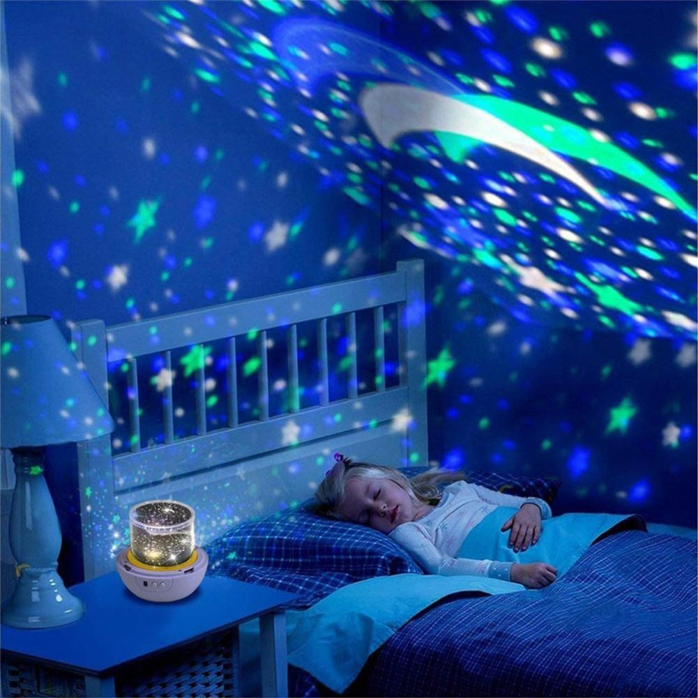 Durable Projection Night Light Wear-resistant Romantic Starry Sky Night Light Rotating Bedroom Bedside Projector For Kids Room