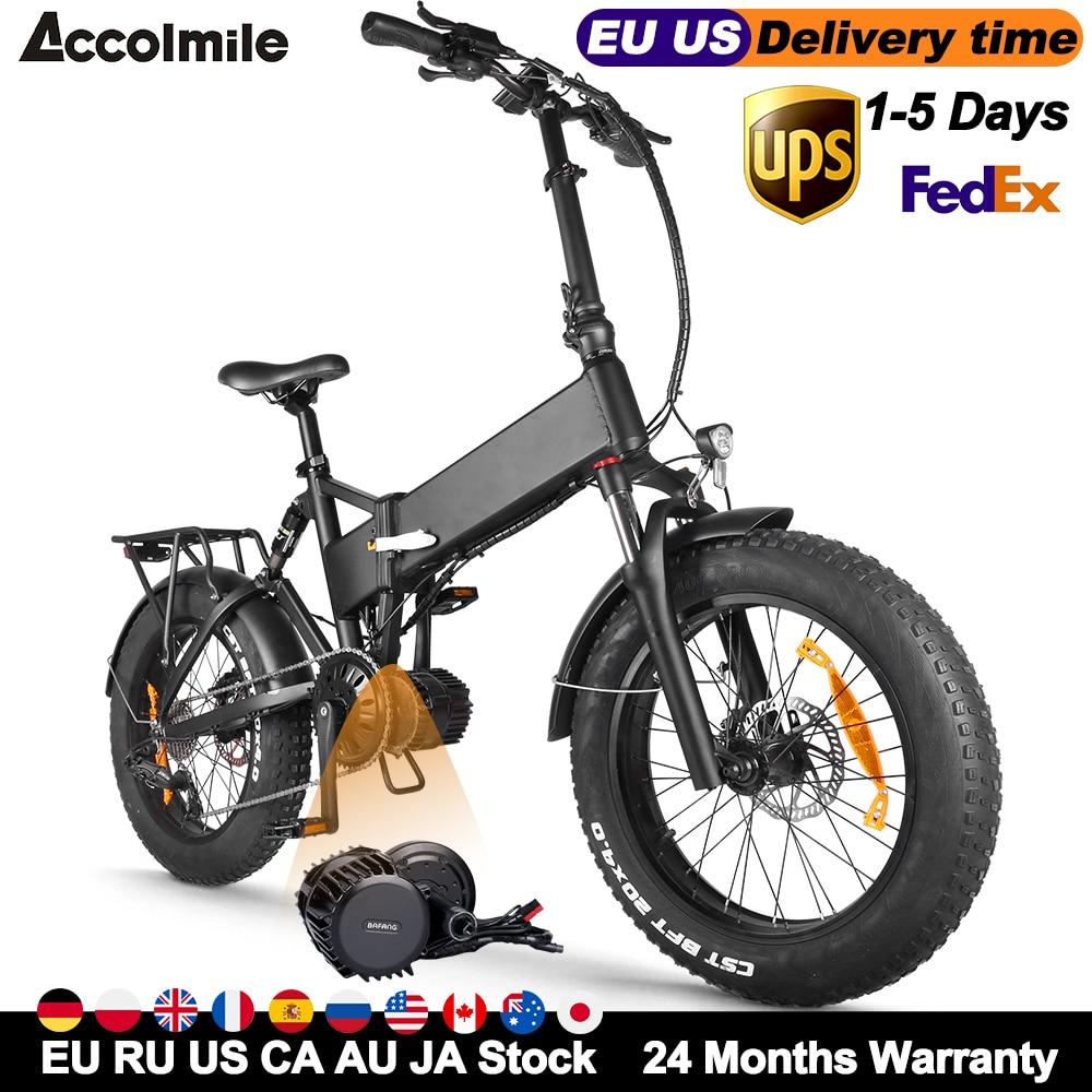 Elektrikli bisiklet 48V 1000W Bafang BBSHD orta Motor 17Ah LG batarya elektrikli bisiklet katlanır plaj E-bisiklet 4.0 yağ lastik erkekler kadınlar için