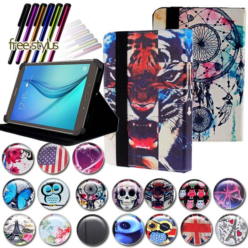 KK&LL For Samsung Galaxy Tab A 9.7 T550 P550 T555 - Leather Tablet Stand Folio Cover Case + Free stylus