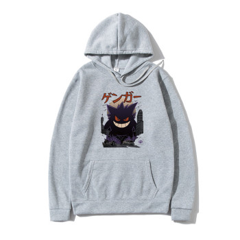 Men Hoodies Sweatshirts Gengar Kaiju man hoodies Harajuku Pokemon Fashion Men's Tops Pullover Hip Hop Japan Streetwear sudaderas 1