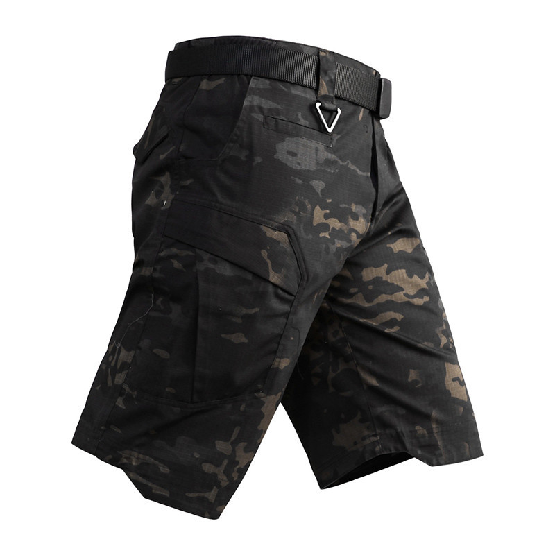 Men Tactical Shorts Summer Camouflage City Urban Security Cargo Shorts Male Rip-Stop Multi-Pockets Military Army Shorts