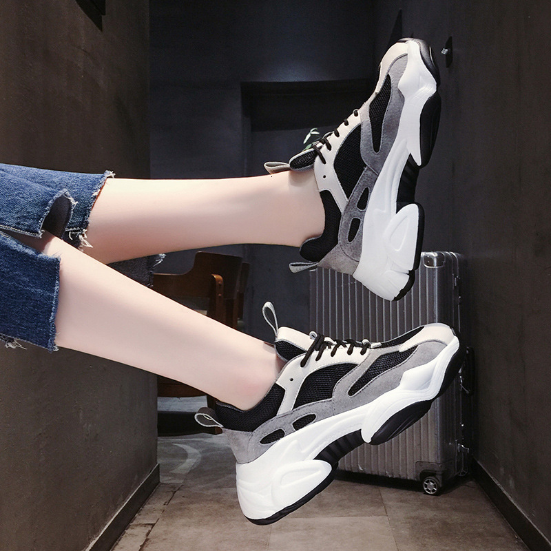 Wedges Mesh Ladies Casual Shoes Zapatillas Chunky Plataforma Fashion Sneakers For Women Trainers Platform White Sneakers