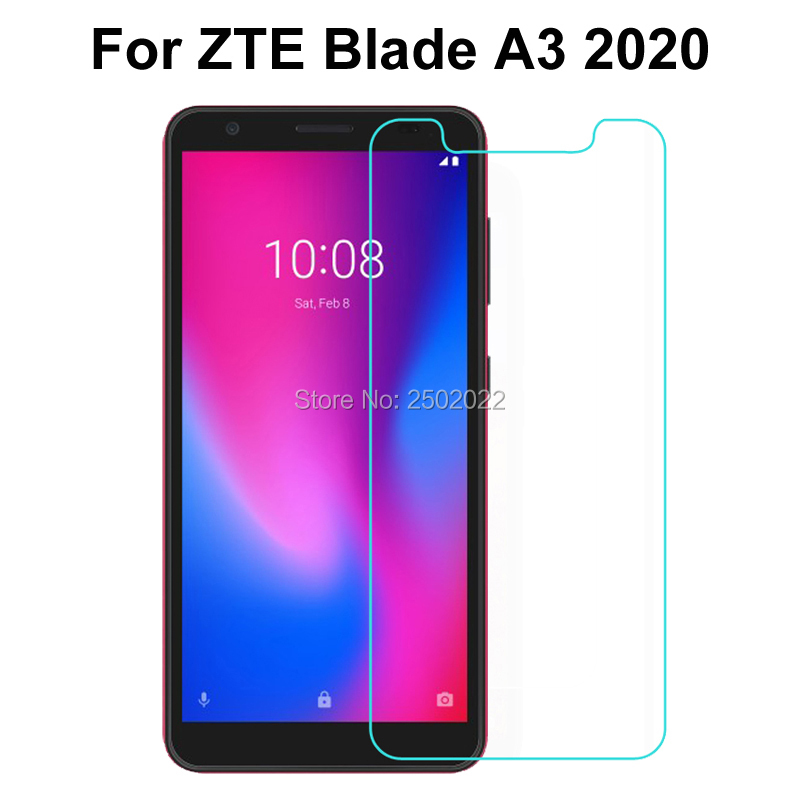 "Para zte lâmina a3 2020 vidro temperado para zte a3 2020 5.45 ""protetor premium tela anti shatter película protetora 0.26mm 9 h 2.5d"