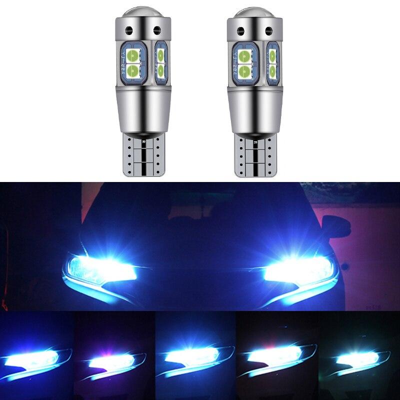 2 adet araba T10 LED W5W Canbus gümrükleme işıkları Mercedes Benz C sınıfı için W205 GLC GLA çözme beyaz sarı mavi 168 194 ampuller Led