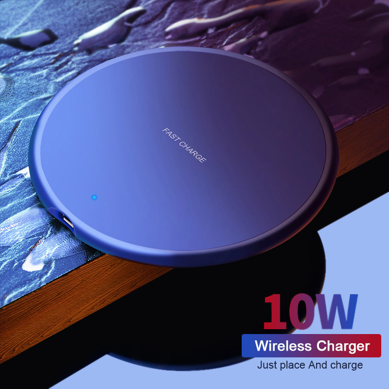 Colorful 10W Wireless Charger Qi Wireless Phone Charger USB Fast Charger for iPhone Samsung Xiaomi Mobile Phone Charger Pad Dock