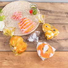 100pcs OPP Transparent Flat Mouth Stand-up Bag Snack Bread Baking Packaging Plastic Gift Candy Packaging Bags 100pcs opp transparent flat mouth stand up bag snack bread baking packaging plastic gift candy packaging bags
