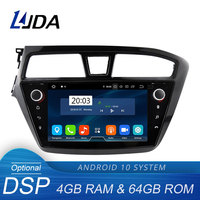 LJDA 9 Inch Android 10.0 Car Multimedia Player For HYUNDAI i20 2015 2016 2017 GPS Stereo 2 Din Car Radio 4G+64G DSP Octa Cores