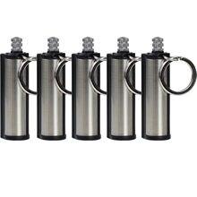 1/2/5pc moda para actividades al aire libre permanente delantero encendedor encuentro portátil impermeable ligero botella llavero con que contienen núcleo de algodón