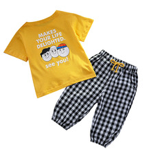 New Summer Baby Clothes Children Clothing Boy Girls Cotton Letter T Shirt Shorts 2Pcs/set Toddler Casual Costume Kids Tracksuits baby boy girls clothes set summer cartoon printed t shirt tops shorts 2pcs toddler kids costume cotton boys clothing suit 0 7y