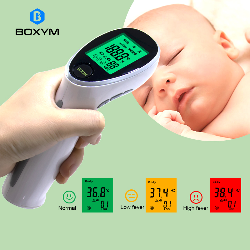 BOXYM Digital Infrared Thermometer Portable Termometro Non-contact Laser Body Fever Temperature For Baby&Adult