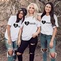 1 Pcs Bester Freund Für Immer BFF Brief Drucken Frauen Graphic T Shirts Kurzarm Sommer T-shirt Freunde Schwester Passenden Tees tops
