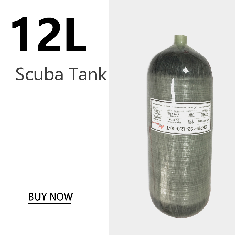 AC3120 12L Scuba Diving Tank 4500psi Diving Cylinder 30Mpa Air Tank Scuba Import Carbon Fiber Cylinder For Diving  Acecare