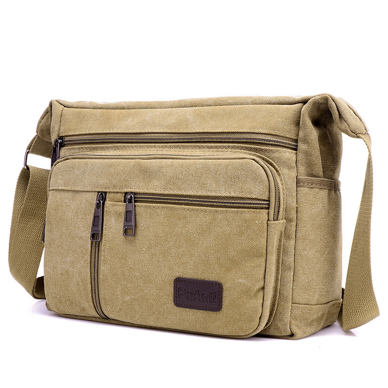 Casual Men Crossbody Shoulder Bag Men's Messenger Bags Canvas Male Travel Ipad Pack Classic Simple Style Handbag
