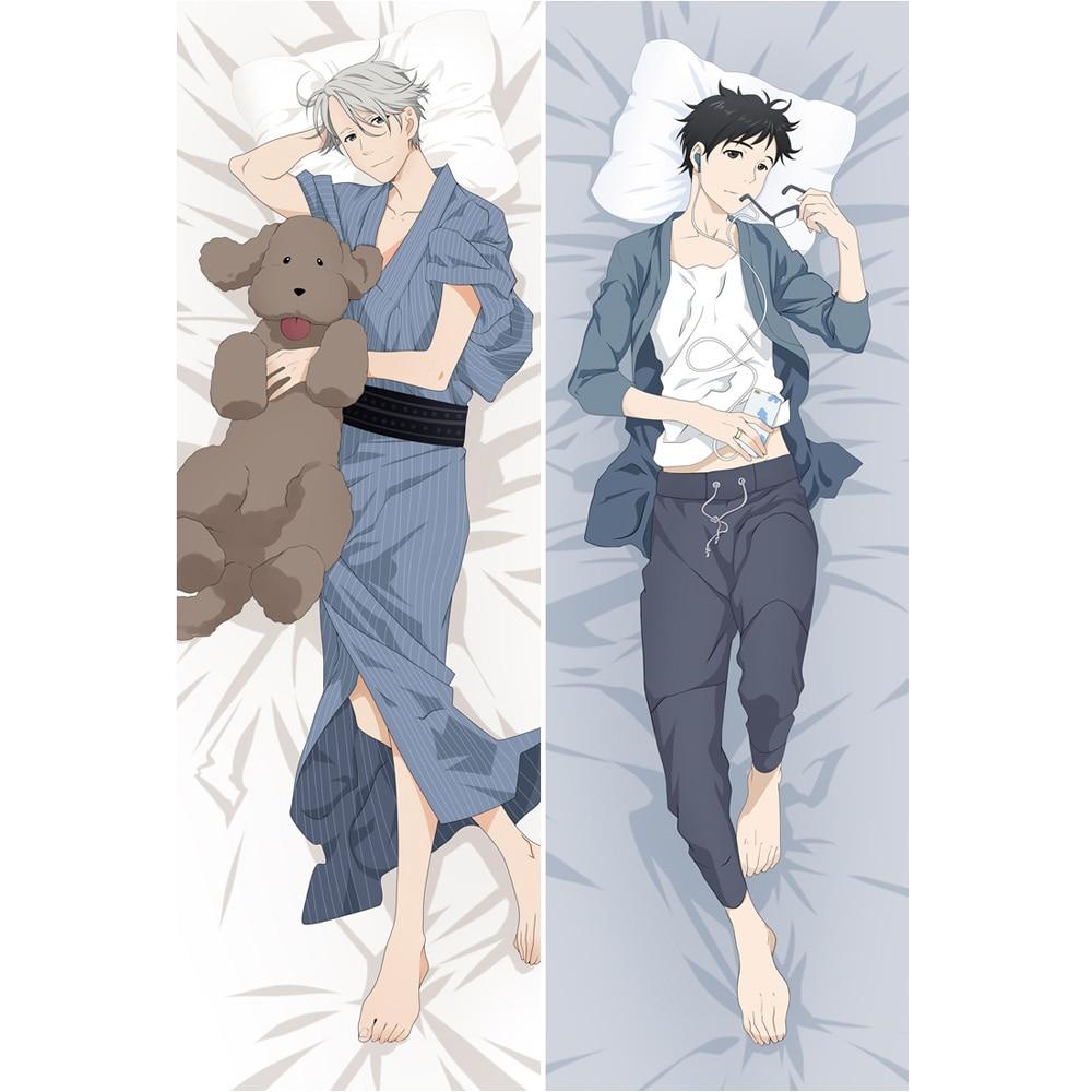 Anime YURI on ICE Victor Nikiforov Dakimakura Hugging Body Pillowcase Yuri Katsuki BL Male Pillow Cover