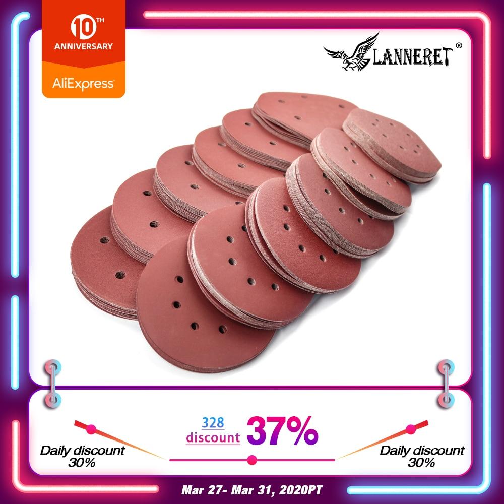 LANNERET 180mm 215mm Polishing Sanding Disc Sandpaper Assorted Holes For Drywall Sander Polisher LPDS185 LPDS225