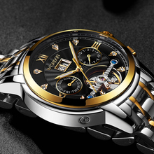 Relojes LIGE Top Brand New Men Automatic Mechanical Watch Is