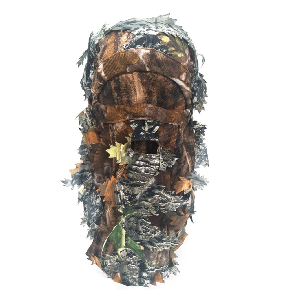 3d Camouflage Hunting Mask Thin Breathable Hoods Leaf Stereo Hunt Masks Hat Woodland Sports Accessory