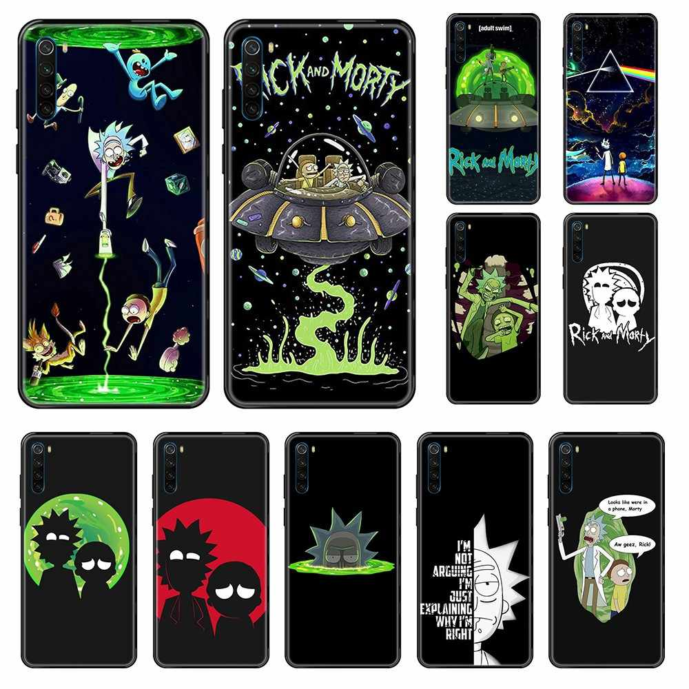 Rick And Morty fashion art zderzak Etui czarny futerał na telefon do Xiaomi Redmi Note S2 4 5 6 7 8 A S X Plus Pro