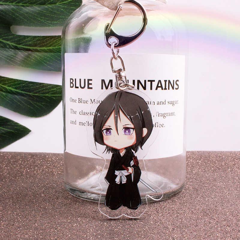Anime BLEICH Keychain Kurosaki Ichigo Schlüssel Kette Acryl Figur Keyring Modell Spielzeug Schlüsselanhänger Schlüsselanhänger Unisex WEIHNACHTEN Geschenk