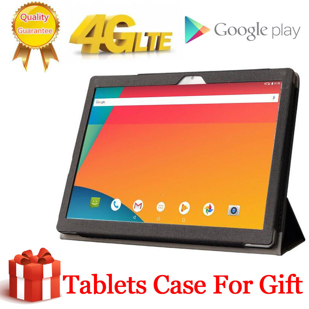 2020 Free Gift Tablet Case Cover 4G LTE 10.1 Inch 2.5D Tablet Pc 2560x1600 10 Deca Core MTK6797 8GB RAM 256GB ROM Android 9.0