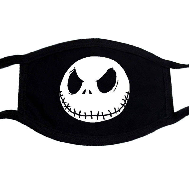 Halloween Masquerade Cosplay Mask Winter Face Mask K-pop Cotton Dust Mask Casual Black Warm Mask Festive Party Funny Masks