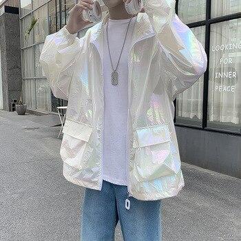 Thin Couple Summer Sun Protection Coat Windbreaker Mens Long-sleeved Breathable Lightweight Anti-UV Clothing