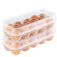 Штабелируемый Пластиковый покрытый лоток для яиц, контейнер для хранения и органайзер для холодильника