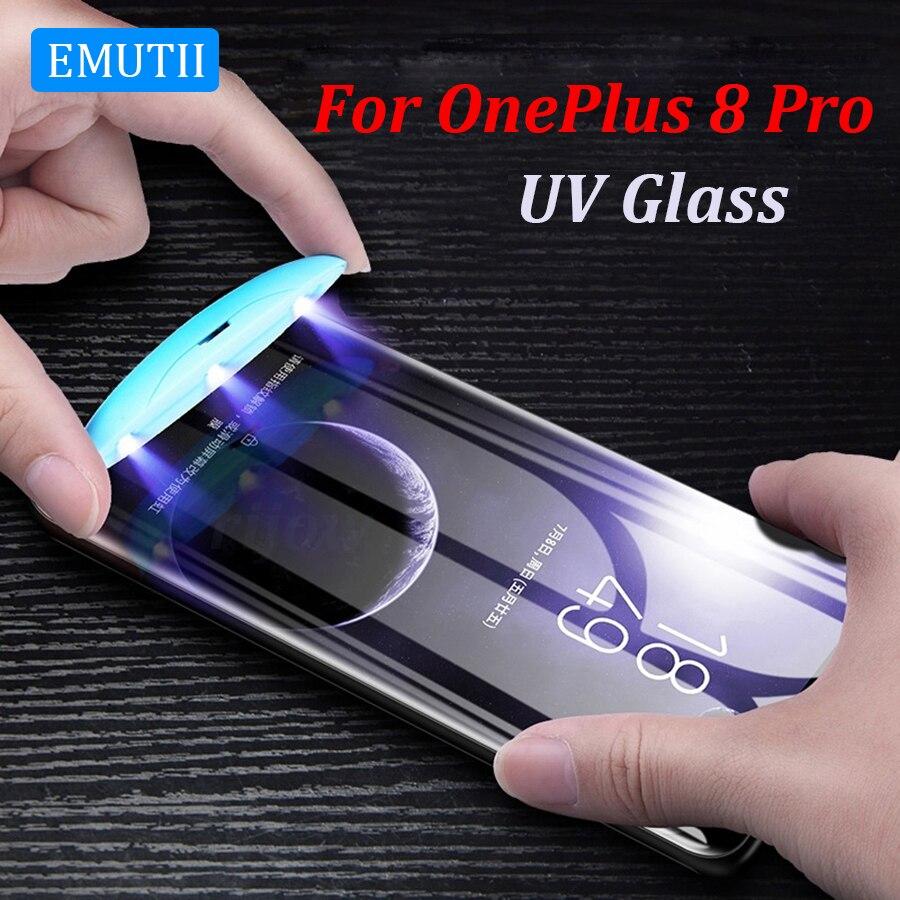 Новейшее УФ закаленное стекло для OnePlus 9 Pro Полное жидкое клеевое стекло One Plus 8 7 7T Pro защита для экрана OnePlus9 пленка стекло Plus 9Pro 8