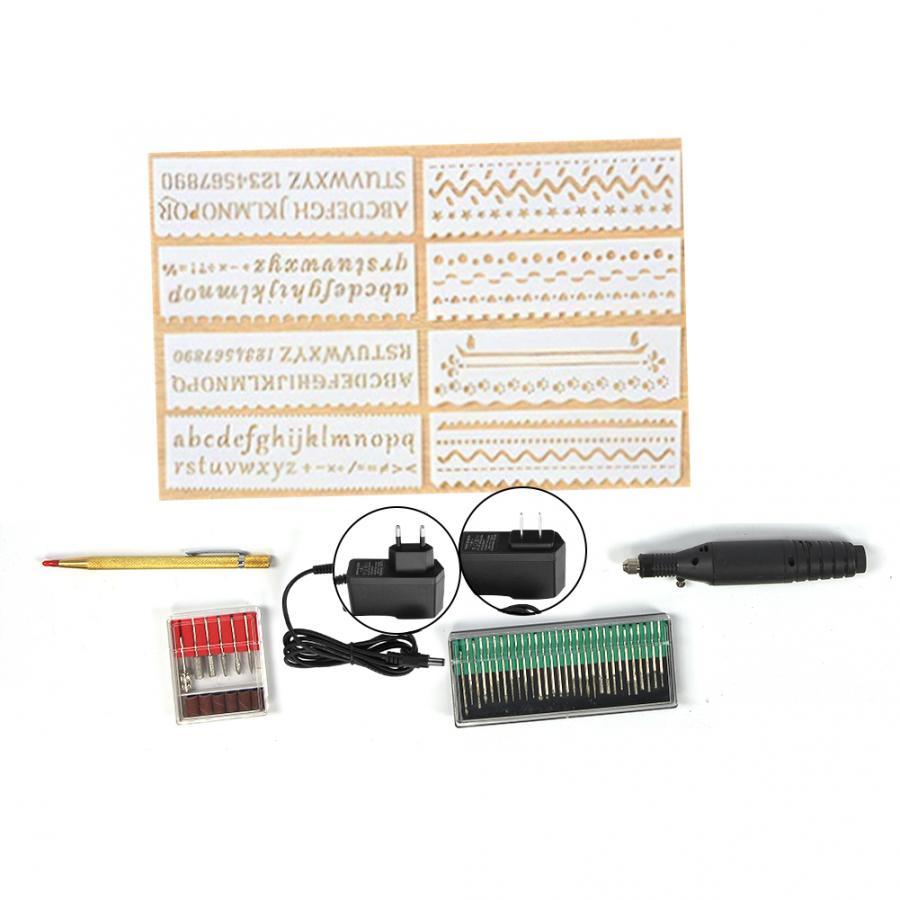 Gereedschap Mini Electric Engraving Pen 100~240V Micro Manual DIY Variable Speed Carving Pen Kit Household Tool Parts