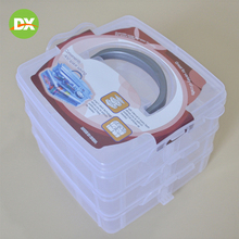Jewelry Storage Plastic Box Cosmetic Organizer Packaging Container Multi-functional Three-tier Rectangular Transparent Accessory