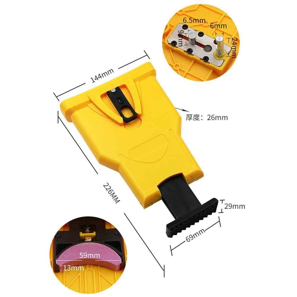 Afilador de dientes sierra de cadena afilador de barra montaje rápido molienda eléctrica motosierra herramienta de afilar piezas de carpintería