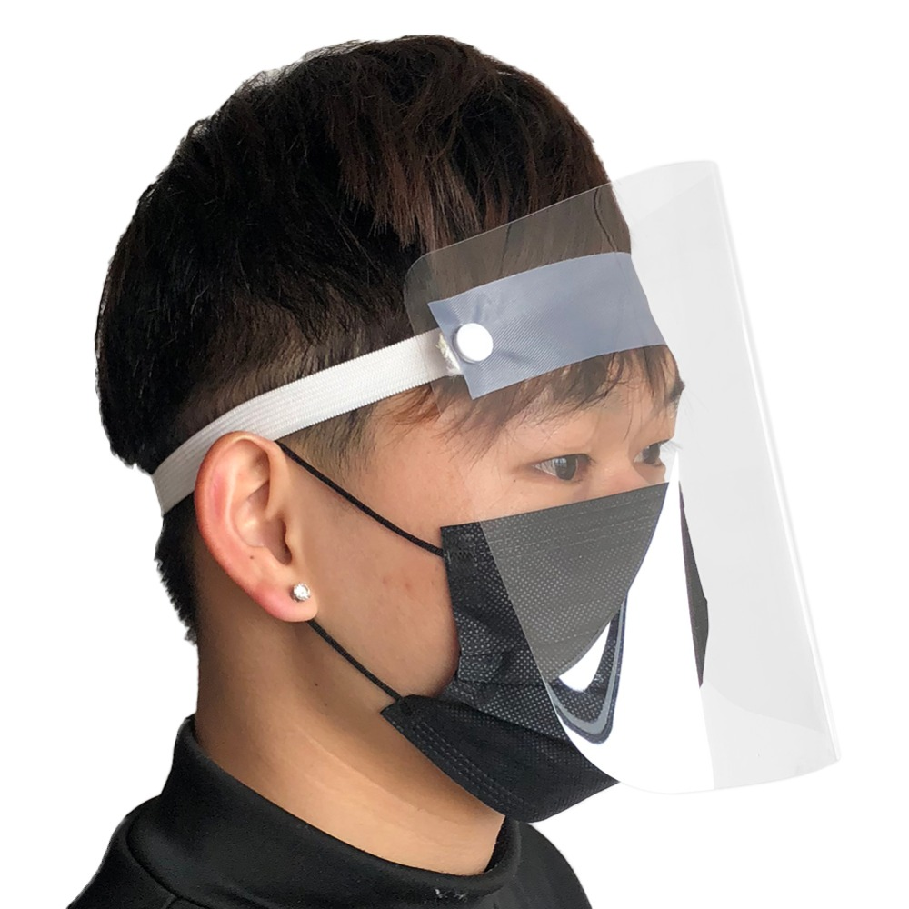 4/10PCS Clear Face Cover with Double-Sided Film and Adjustable Headband to Protect Full Face 9