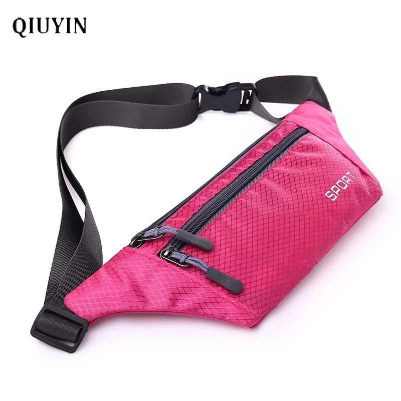 Qiuyin Travel Belt Bag Nylon Fanny Pack Men/male Pack Waterproof Waist Pack Fanny Pack Premium Purse Sport Bum Pouch Strap Walk