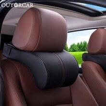 Автомобильное сиденье для безопасности, Автомобильный подголовник, подголовник для шеи, кожа, хлопок, Автомобильная подушка для головы, подушка для шеи, аксессуары для автомобиля