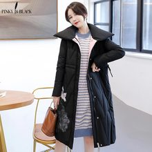 PinkyIsBlack 2019 Female Women Winter Jacket Coat Thickening Cotton Parka For Long Thick Warm Outwear