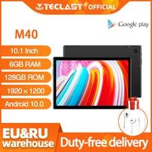 Plus récent 10.1 pouces tablette Teclast M40 Android 10.0 6GB RAM 128GB ROM Mali-G52 3EE GPU 8MP caméra Bluetooth 5.0 4G appel téléphonique WiFi