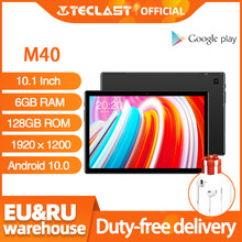 Mais novo 10.1 polegada tablet teclast m40 android 10.0 6gb ram 128gb rom Mali-G52 3ee gpu 8mp câmera bluetooth 5.0 4g telefone chamada wi-fi