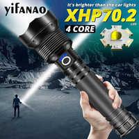 80000LM Xlamp XHP70.2 Ultra potężne latarka LED XHP50 jasne światło USB Zoom latarka 18650 26650 akumulator latarka myśliwska latarnia