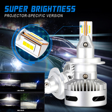 NOVSIGHT 2PCS Car Projector Headlight H7 Led H11 9005/9006 9012 D5 D2/D4 D1/D3/D8 90W 12000LM 6500K Headlamp Fog Light Lamps