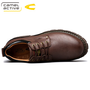 Image 5 - Camel Active New Inglaterra zapatos de cuero genuino con cordones para Hombre Zapatos casuales cosido a mano hombres de suela gruesa zapatos de hombre
