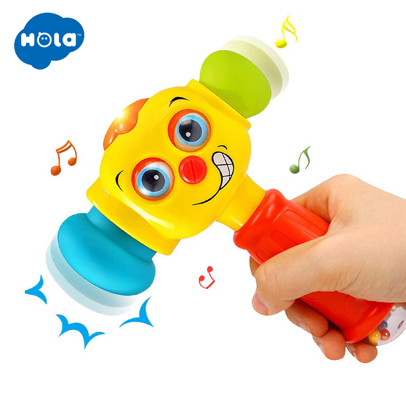 HOLA 3115 Baby Toys Musical Hammer Toy For Newborns 0-12 Months Music Toy For Toddlers Electronic Trumpet Toys For Children Boys