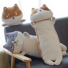 Cute Cat Sleep Clip Leg Pillow Long Strip Plush Toys Shiba Inu Doll Dog Super Soft Elfe on A Shelf Stuffed Animals