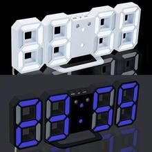 3D 大型 Led デジタル壁時計日付時間摂氏常夜灯表示テーブルデスクトップ時計アラーム用のリビングルームアラームクロック