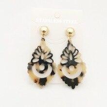 Acrylic Leopard Earrings Long Drop earrings Women Christmas Minimalist Punk Earring Boho Simple Earings